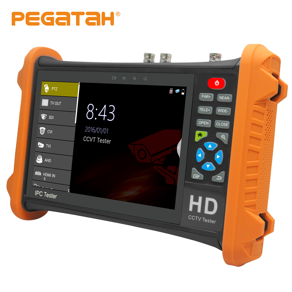 7inch 5MP AHD 8MP TVI CVI 2MP SDI CCTV Tester Analog Camera Tester Support HDMI Audio
