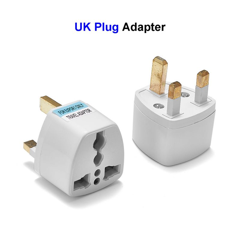 100pcs New US EU AU To UK Plug British UK Travel Power Adapter Plug Socket AC Converter Adapter Electrical Plug Outlet