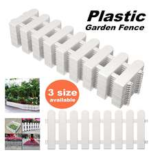 12PCS Garden Lawn Grass Edging Fence Picket Border Panel Plastic Wall Fencing Board Garden Yard Decoration DIY Easy Assemble