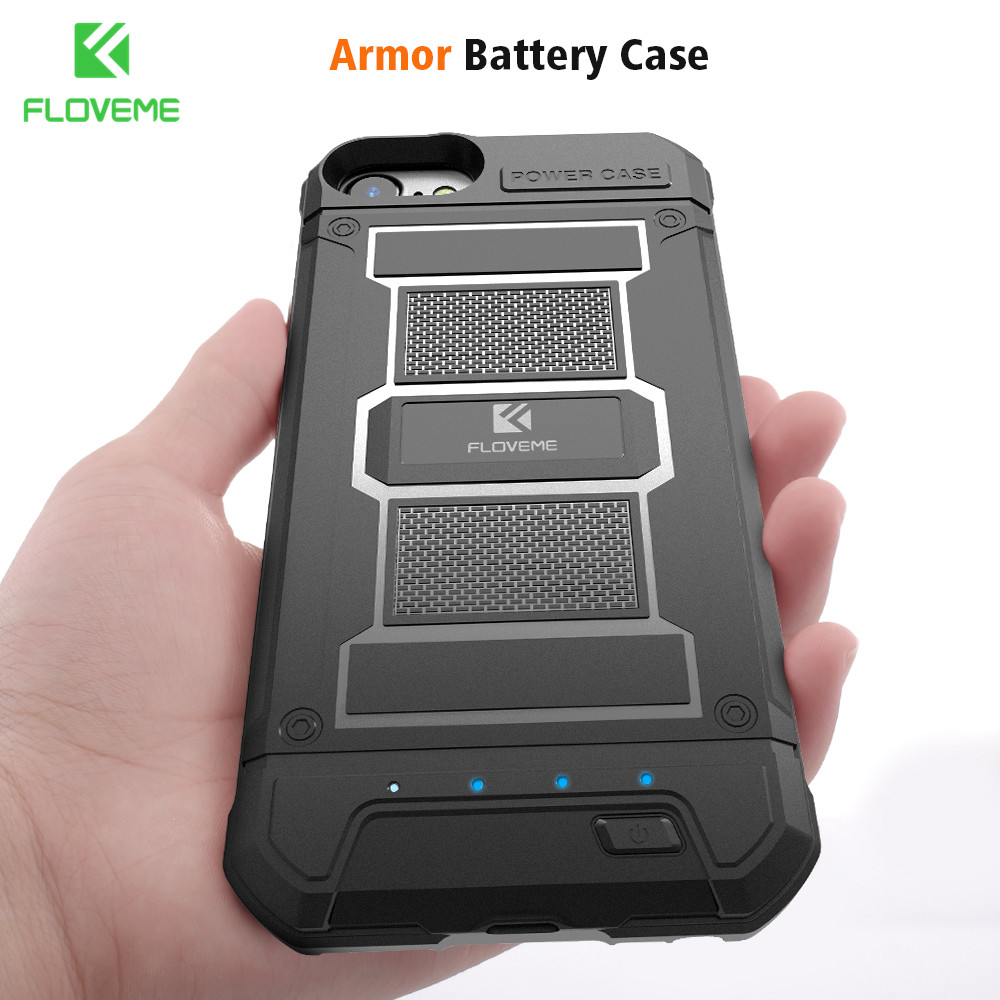 FLOVEME Battery Charger Case For iPhone 8 8 Plus Power Bank Case External Backup Charging Cover For iPhone 7 6 6S Case