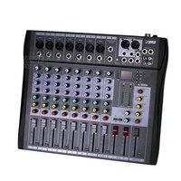 Profesjonalne 8 Kanałów Elektryczny Mikser Audio Konsoli DJ Music Cyfrowe USB LINIA XLR Wejście 48 V Zasilanie Phantom Etap Karaoke mieszanie