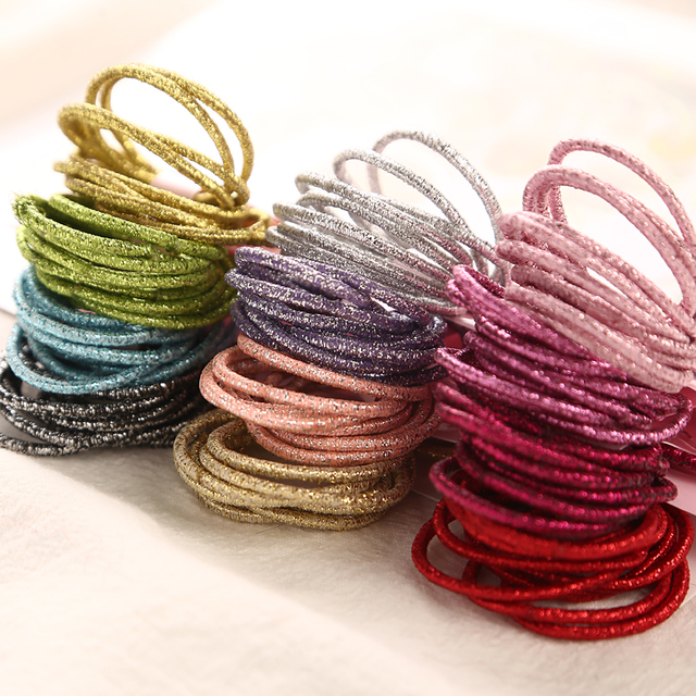 New Fashion12 Colors 10Pcs/Card 3cm Child Rubber Bands Hair Accessories