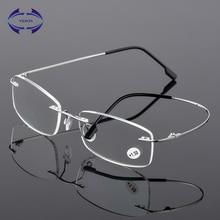 VCKA, очки для чтения без оправы, мужские, титановый сплав, складные, женские, квадратные очки для дальнозоркости, безрамные очки+ 1,0+ 1,5+ 2,0+ 2,5