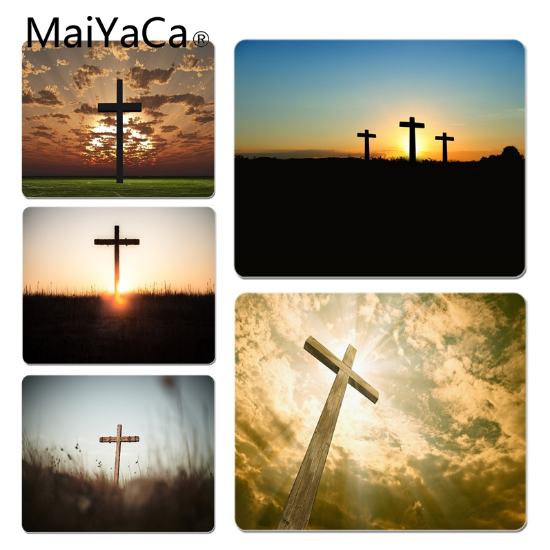 MaiYaCa Hot Sales Bible verse Philippians Jesus Christ Customized laptop Gaming mouse pad Size for 180x220x2mm Rubber Mousemats