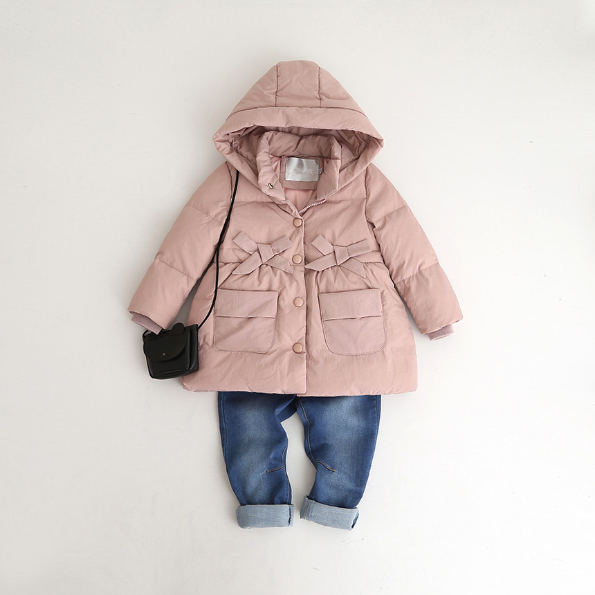 YP709423148 Fashion Girls Winter Jackets Solid Girl Down Jacket Hooded Girl Coat Worm Girl Outerwear Kids Jacket girl jackets coat for winter baby girl down
