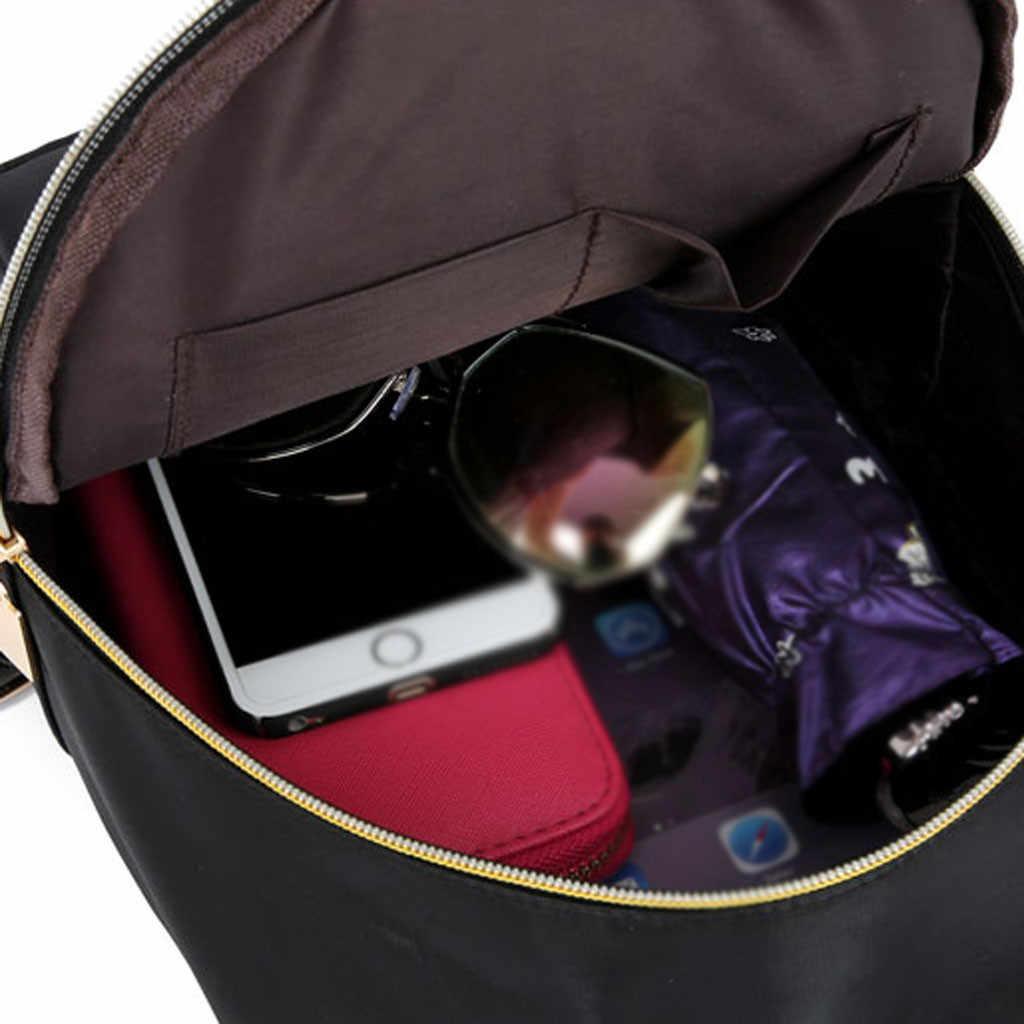 Bolso de mujer moda Color sólido Multi-función hombro mochila Casual bolso mochila mujer mochilas escolares para niñas adolescentes