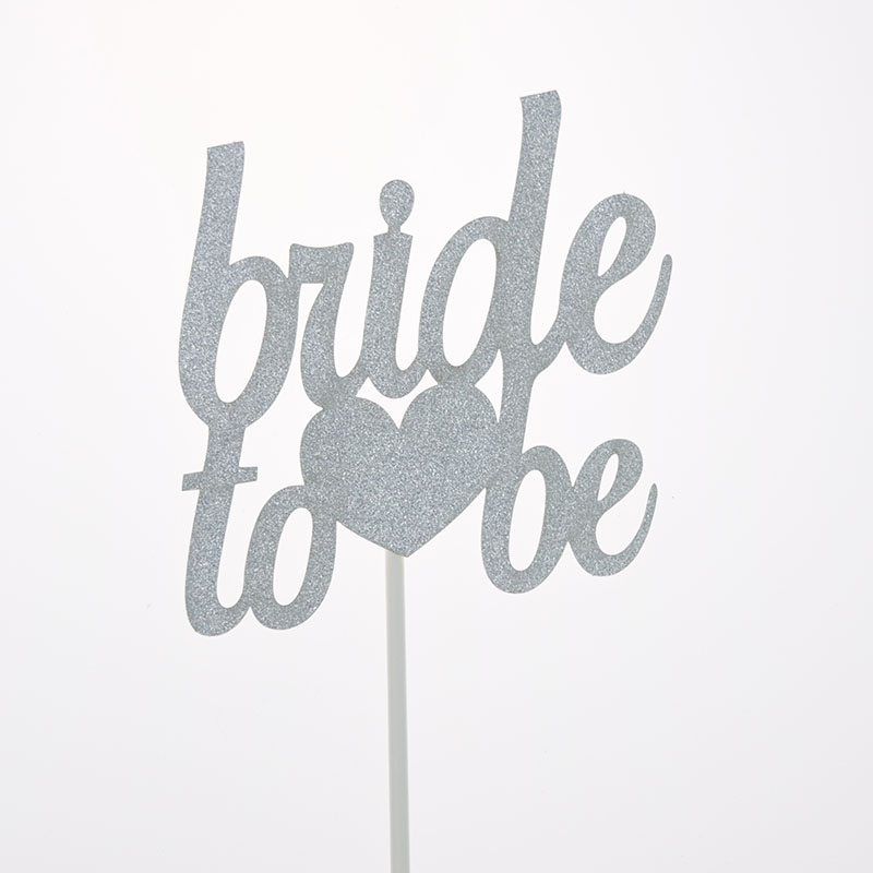 bride to be Cake Topper Cupcakes Cake flags Bridal Shower Supplies Glitter Shiny Paper Bachelorette Hawaiian wedding Party Decor in Cake Decorating Supplies from Home Garden