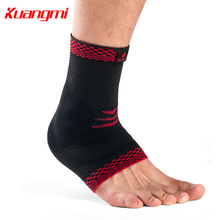 Kuangmi 1 PC Silicone protection Sport Ankle Support basketball volleyball Comfortable Compression Sleeve Family gift
