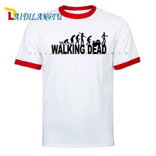 Hot Sale 2017 Summer The Walking Dead Men T-Shirts Hip Hop Fashion Loose T Shirts Men T-Shirt 100% Raglan sleeves Cotton Tshirt(China)