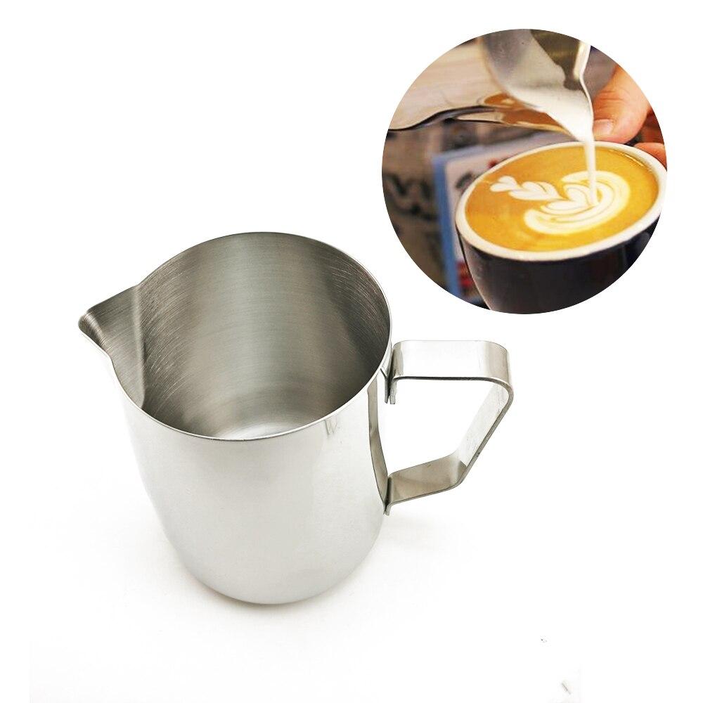 De acero inoxidable leche espuma jarra de café taza de café jarra Barista café artesanal Cappuccino tazas de café con leche olla cocina herramienta