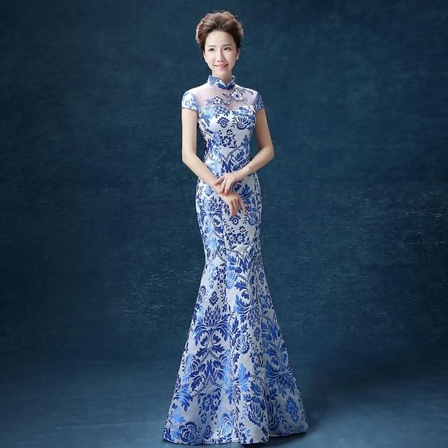d410d0e49e4f Long Cheongsam Chinese Traditional Dress Women Qipao Woman Modern Evening  Gown Oriental Style Dresses Qi Pao Robe Chinoise
