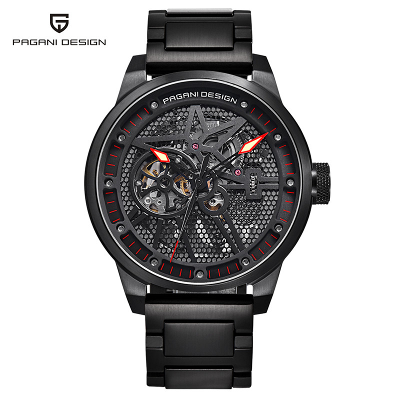PAGANI DESIGN Men Watches Army Military Wrist Watch Automatic Self-Wind Luxury 3ATM Water Resistant 316L Stainless Steel Hour pagani men stainless steel watches mechanical wristwatches automatic self wind complete calendar water resistant clock brand