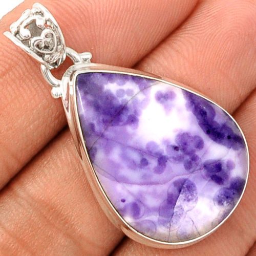 Genuine TIF Jasper Pendant 100%  925 Sterling Silver Jewelry 41mm AP1229
