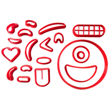 Circle Face Cookie Cutter Custom 3D printed Fondant Different Kinds of Emoji Mold Baking Mould Biscuit Molds