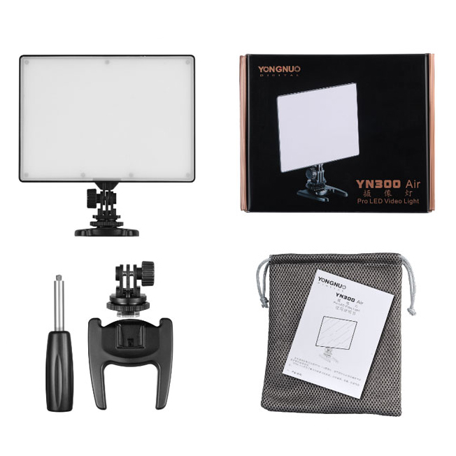 YONGNUO YN 300 YN300 YN-300 Air LED Camera Video Light 3200K-5500K for Canon Nikon Pentax Olympas Samsung DSLR & Camcorder led c200rs pro flapjack led c 200rs bicolor edge light 3200k 5600k camera video light for canon nikon samsung