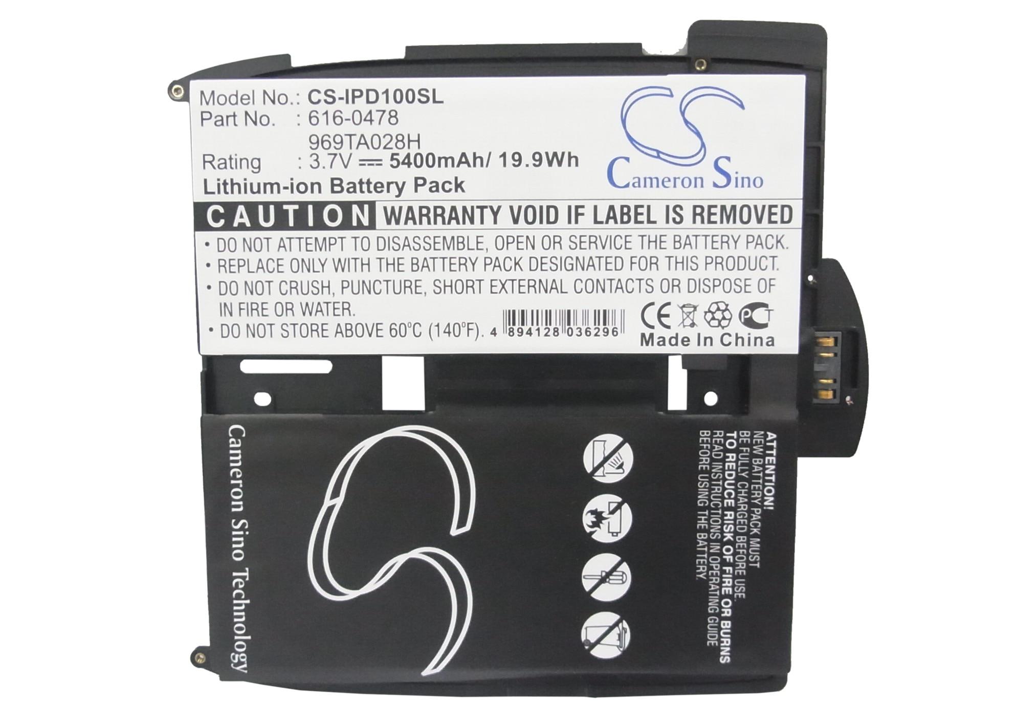 Cameron Sino 5400 Mah Batterie 616-0448 A1337 Fein Verarbeitet A1219 969ta028h Für Apple I-pad 1st 616-0478 A1315