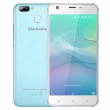 Blackview A7 Pro 4G Mobile Phone 5.0″ HD Android 7.0 MTK6737 Quad Core 2GB RAM 16GB ROM 8MP Dual Cameras Fingerprint Smartphone