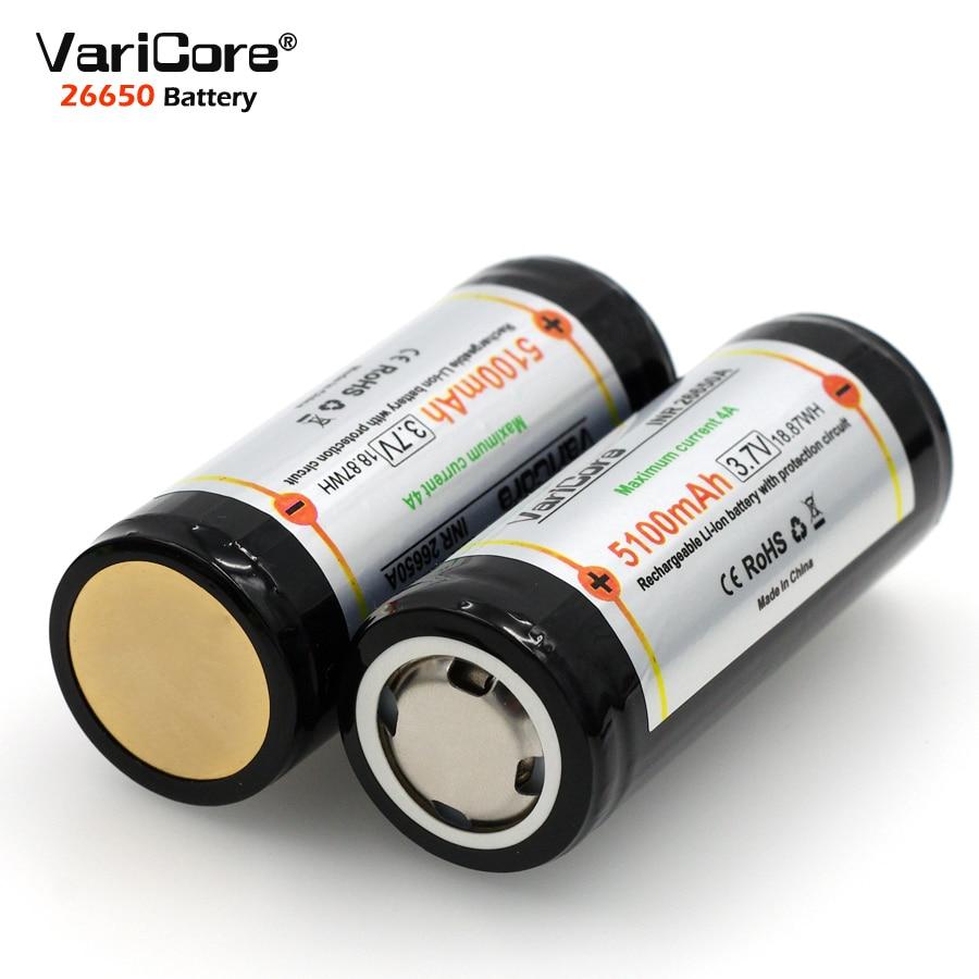 VariCore 26650 3,7 V Lithium-Batterie 26650 4A Hohe strom entladung Bord Batterie für Highlight Taschenlampe