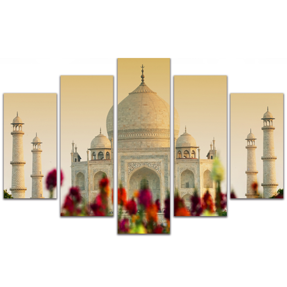Unframed Canvas Painting City Building Taj Mahal Photo Picture Prints Wall Picture For Living Room Wall Art Decoration
