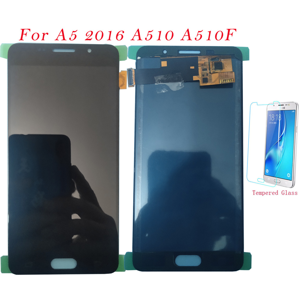 Test <font><b>LCD</b></font> Screen For <font><b>Samsung</b></font> Galaxy A5 2016 <font><b>A510F</b></font> A510M Touch Screen Digitizer <font><b>LCD</b></font> Display Adjust For <font><b>Samsung</b></font> A510 Assembly TFT image