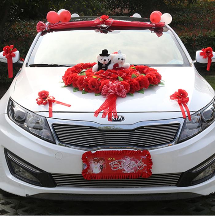 Wedding Car Decoration Flower Bridal Sedan Car ...