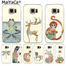 MaiYaCa Nette abstrakte tier hirsch hund fox frosch affe Mode telefon fall für SamsungS3 S4 S5 S6 S6edge S6plus S7S7edge s8 S8plus(China)