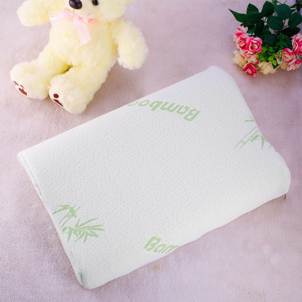 Baby Memory Pillow Toddler Sleeping Anti Roll Cushion Adjustable Bamboo Slow Rebound Neck Protection Pillow Contour Health Care