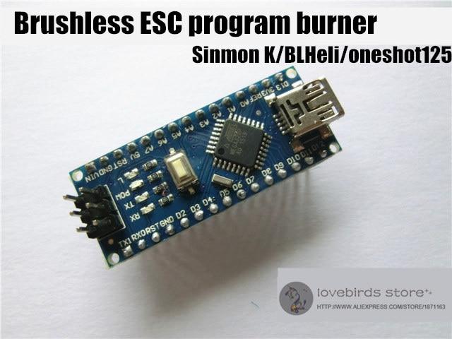 Brushless ESC Program burner programmers support Simonk / BLHeli / Oneshot 125 / support forward rotation & reverse rotation dc1010a b programmers development systems mr li