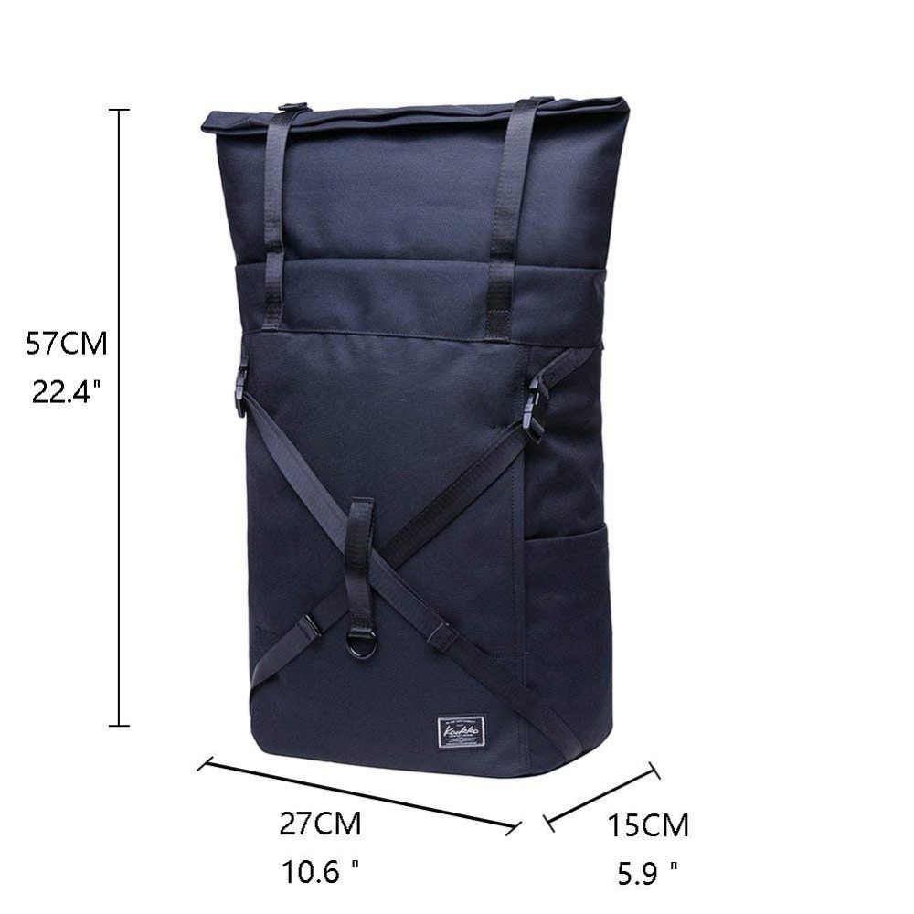 5a11c488c0a4 ... KAUKKO Laptop Backpack Waterproof Roll Top Backpack Men & Women,  Backpack for Leisure / Business ...