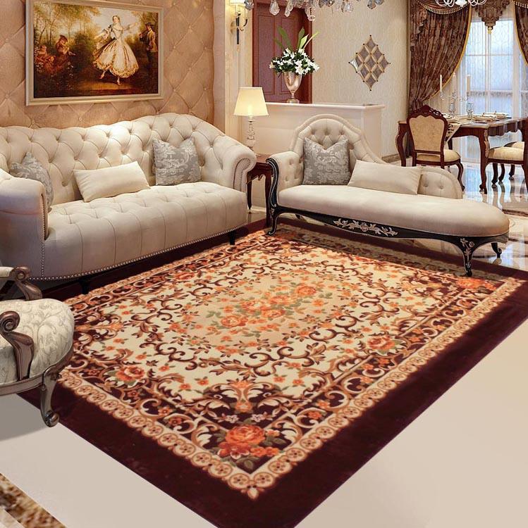 171 32 Mode Rose Romantique Rustique Salon Tapis Table Basse Tapis Laine Artificielle Qualite Fleurs 1 5 M 2 M In Tapis From Maison Animalerie