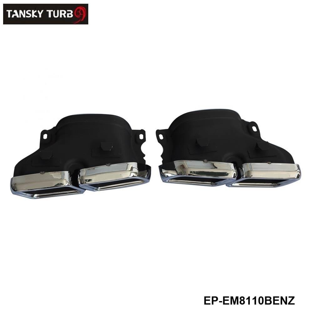 TANSKY -304SS Exhaust Muffler Tips For Mercedes-Benz W205 C Class C250 C300 C350 C63 EP-EM8110BENZ Mercedes-Benz A-класс