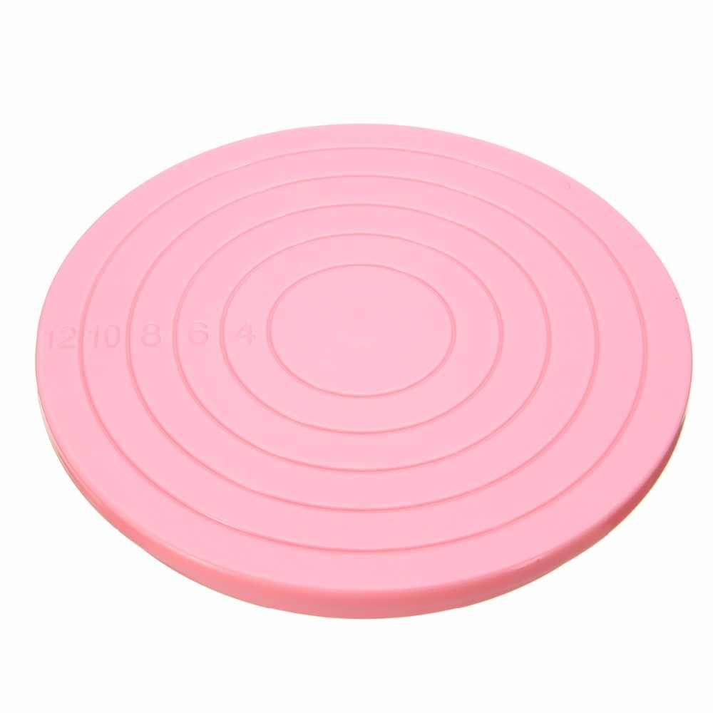 Вращающаяся пластина для торта 14 дюймов, пластмассовая вращающаяся пластина для торта, инструмент для выпечки, украшения вращающиеся тарелки, принадлежности для торта Mayitr