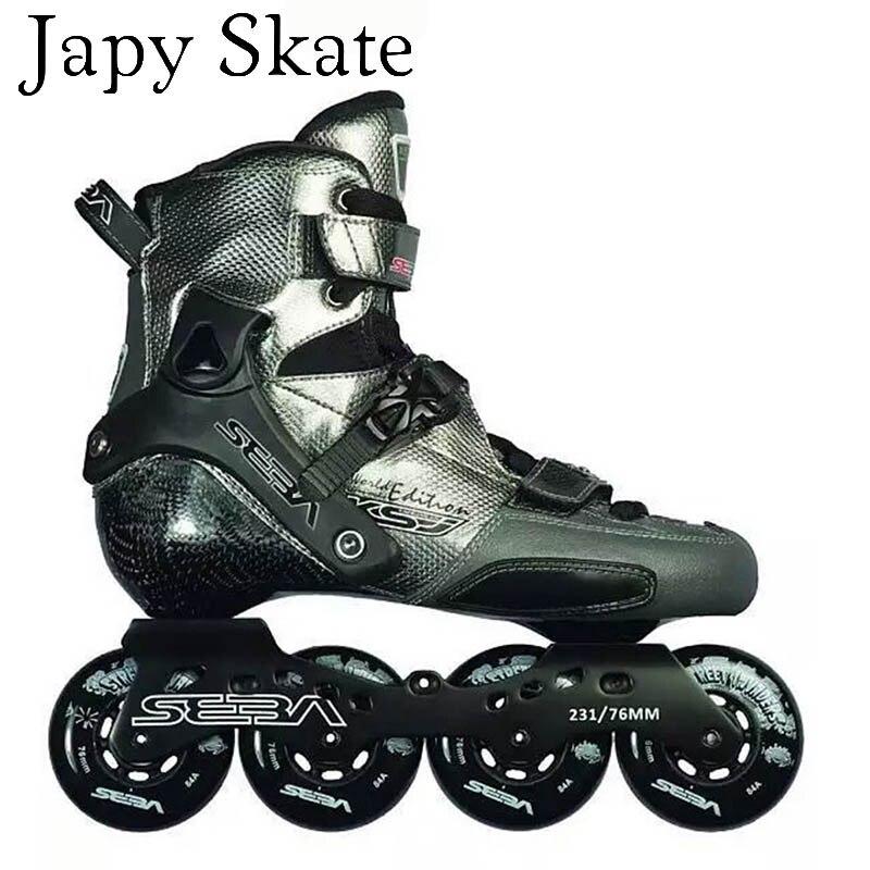 Prix pour Jus japy Skate 2016 SEBA KSJ Bullet Professionnel Slalom Patins À Roues Alignées En Fiber De Carbone Rouleau De Patinage Chaussures Slding Livraison De Patinage Patines