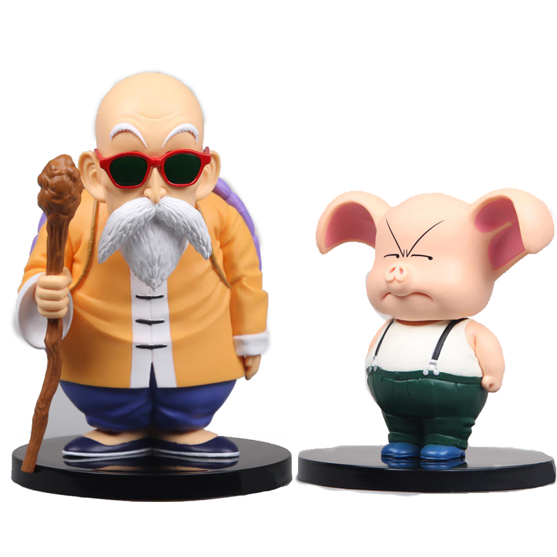Classic toys doll Anime Dragon Ball Z Action Figure PVC Master Roshi Oolong juguetes Anime puppets