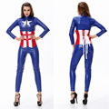 Sexy Beauty Superhero Captain America costume women party cosplay Halloween Costume Jumpsuit Comic Con