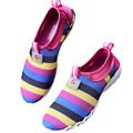 Breathable Women shoe Size 35 to 40 Summer Mesh Rainbow Color shoes KJ171