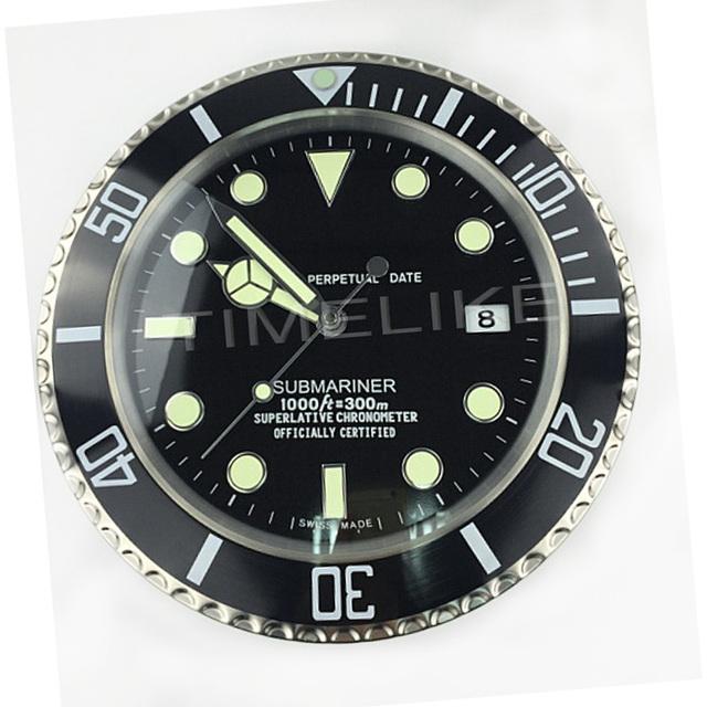2017 Hot Selling Wall Clock Luxury Design Metal Art Watch Clock Relogio De Parede Decorativo Home Decor with Corresponding Logos
