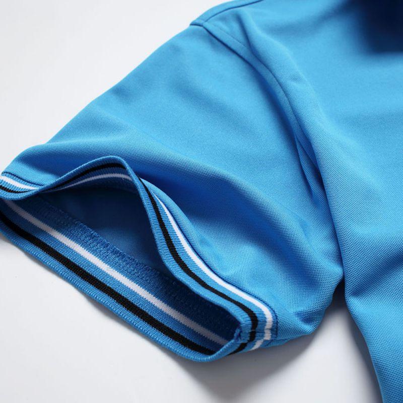2018 New Mens Sports Golf Tennis Shirt T-shirt Plain Slim Sport Sleeve T-shirt Top M6