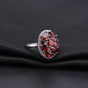 Image 3 - GEMS BALLET Natural Garnet Earrings Ring Set 925 Sterling Silver Gemstone  Vintage Jewelry Set For Women Gift Fine Jewelry