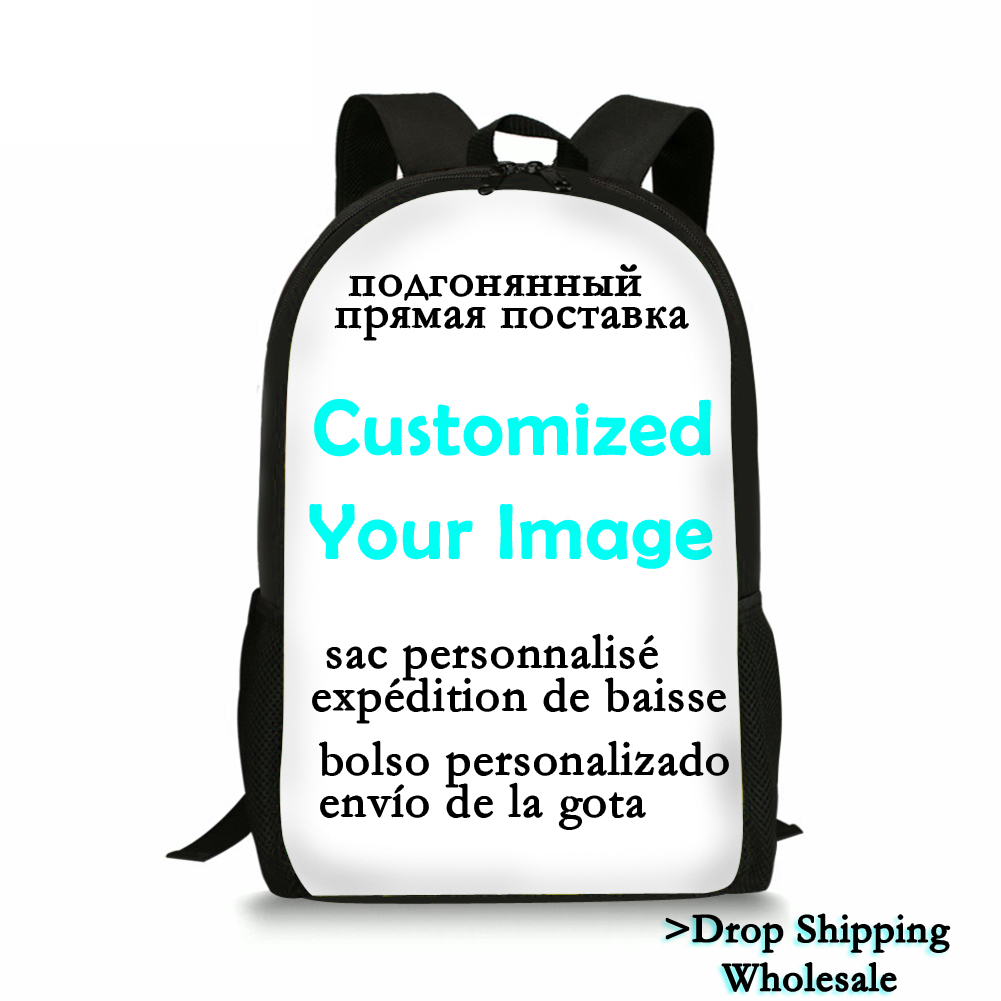 Free Shipping DIY Custom Backpack School Bags Pattern Customize Your Personalized Pattern Bags Drop Shipping