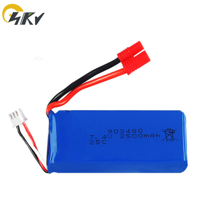 <font><b>7.4v</b></font> <font><b>2500mAh</b></font> 25c Lipo <font><b>battery</b></font> for Syma X8C X8W X8G X8 RC Quadcopter Parts 903480 <font><b>Battery</b></font> with protection board image