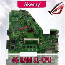 Carte mère d'ordinateur portable Akemy X550EA pour ASUS X550EA X550EP X550E X552E Test carte mère d'origine 4G RAM E1-CPU