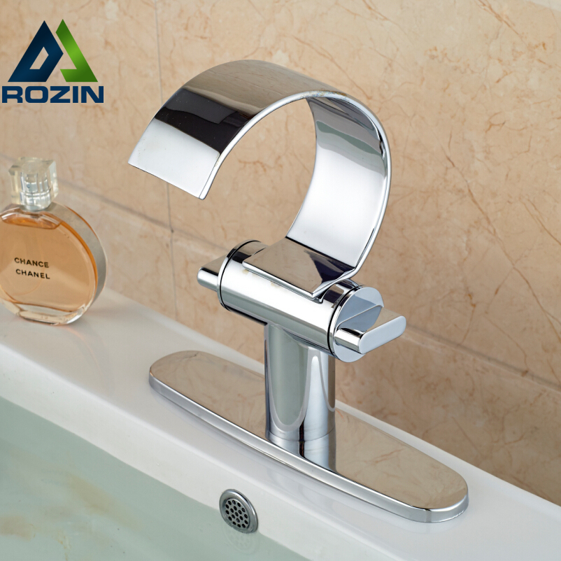Chrome Finish Double Handle Bathroom Waterfall Basin Faucet Deck Mount with Hole Cover + Hot and Cold Water Hose pastoralism and agriculture pennar basin india