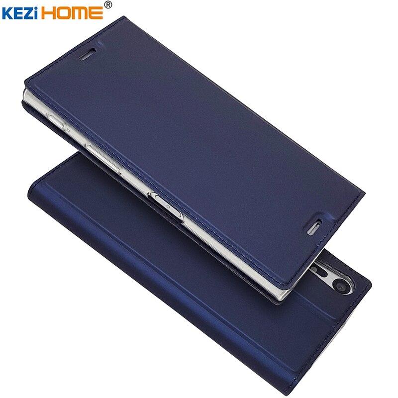 Pour Sony Xperia XZ cas flip PU en cuir souple de silicium retour pour Sony Xperia XZ F8331 Double F8332 couverture
