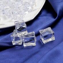 5 шт. искусственный лед кубики многоразовые искусственные акриловые хрустальные кубики виски напитки дисплей фотографии реквизит Свадебная вечеринка Декор