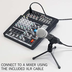 Image 3 - ميكروفون سامسون Q2u ديناميكي محمول باليد 100% مع منفذ سماعات XLR ميكروفون لراديو البودكاست وأشرطة فيديو يوتيوب