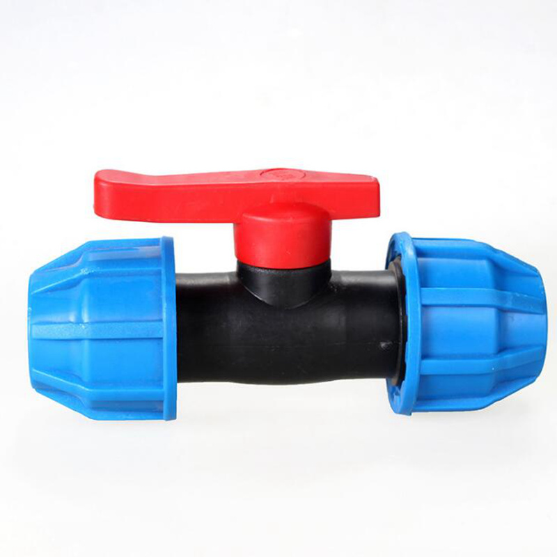 Inner Diameter 20mm And 25mm Standard Union Ball Valve Quick Connector Durable Blue Cap Red Switch Straight Through Quick Valve