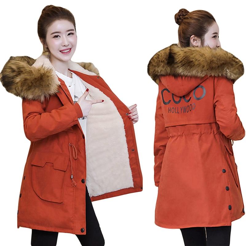 Plus Size 4XL Women Winter Parkas Hot Sale Large Fur Collar Outwear Jacket Fashion Ladies Snow Wear Windproof Hooded Overcoat