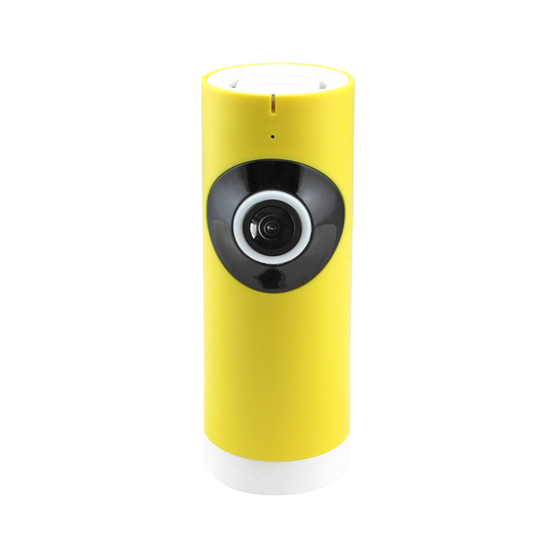 JMAV 720P Mini Wireless IP Camera,180 Degree Fisheye HD WiFi Camera for Home Security / Baby Monitoring / Plug & Play / yellow