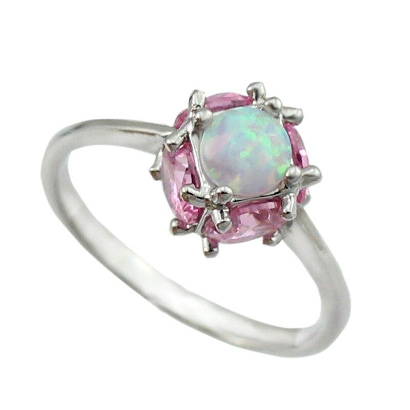 Aktiv Haimis Weiß Feuer Opal Rosa Stein Frauen Mode Schmuck Silber Überzogene Ringe Größe 6 7 8 9 Or849 Zu Verkaufen